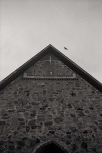 Columba flying over the cross, Lärkkulla Finland 2004 / Palladium print 2017 ©HATSUMI AND SEIJI MIZUNO